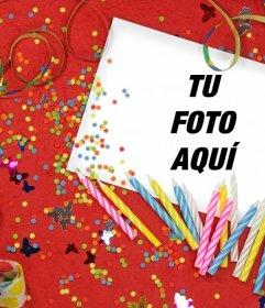 Fotomontaje de Cumpleaños para subir tu foto