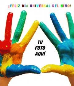 Fotomontaje para celebrar el Día Universal del Niño