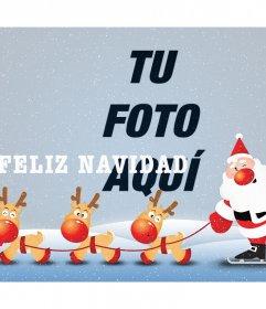 Fotomontaje de Feliz Navidad con Santa Claus