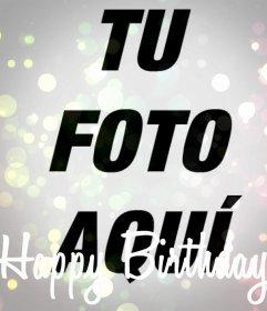 Filtro de Happy Birthday para tu foto