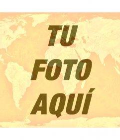 Fotomontaje del mundo naranja para poner encima de tu foto