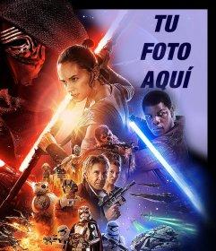 Fotomontaje del Poster de Star Wars VII para subir tu foto
