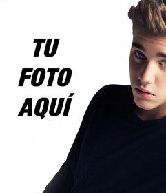 Sube tu foto al lado de Justin Bieber