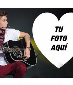 Sube tu foto dentro de un corazón y con Justin Bieber