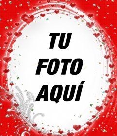 Lindo marco especial para tus fotos con muchos corazones