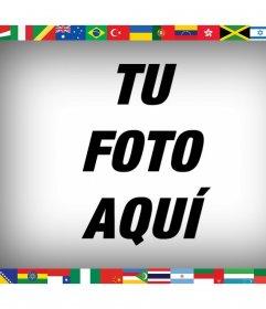 Todas las banderas del mundo en tu foto