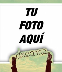 Marco perfecto para tu foto de perfil con la palabra DREAMS