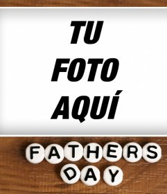 Marco especial para celebrar el Día del Padre con una foto