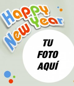 Fotomontaje de Happy New Year para tu foto