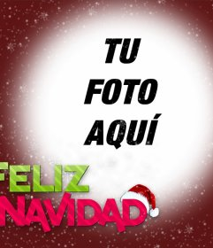 Fotomontaje de Feliz Navidad para subir tu foto