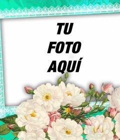 Flores blancas para que decores tus imágenes favoritas