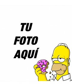 Homer Simpson en una esquina de tus fotos con este efecto
