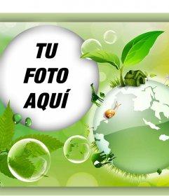 Promueve la protección del medio ambiente con este foto efecto