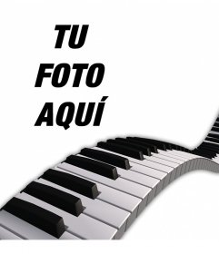 Decora tus fotos añadiéndoles unas teclas de piano encima
