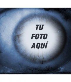 Ojo de terror donde puedes añadir tu foto en el reflejo