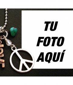 Fotomontaje con el símbolo de la Paz y la palabra LOVE