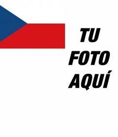 Fotomontaje para poner la bandera de República Checa en la esquina de tu foto