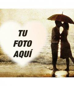 Fotomontaje de amor con una pareja para subir tu foto