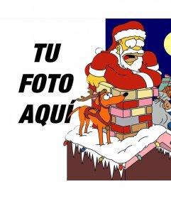Fotomontaje de Navidad de los Simpson para subir una foto