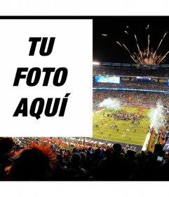 Sube tu foto a este montaje en el evento del Super Bowl