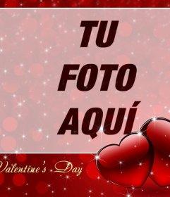 Fotomontaje para celebrar el Día de San Valentin con una foto