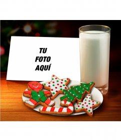 Collage de Navidad para poner tu foto junto a unas galletas de jengibre