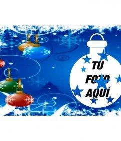 Foto de portada para facebook con bolas de Navidad
