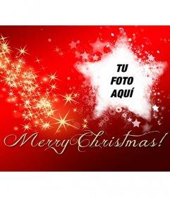 Foto de portada de Facebook con el texto Merry Christmas
