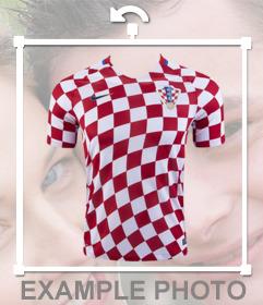 Camisa para pegar en tus fotos de la selección de Croacia