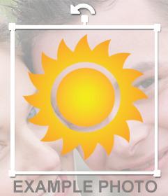 Pegantina de Sol para añadir en tus fotos y decorar online