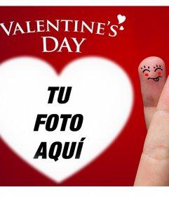 Simpática tarjeta de San Valentin para subir una foto dentro de un corazón
