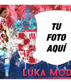 Fotoefecto con Luka Modric, centrocampista de la selección Croata de fútbol
