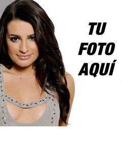 Fotomontaje junto a Lea Michelle, la actriz de Glee