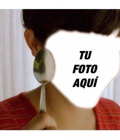 Fotomontaje con una escena de Amelie para poner tu foto en el agujero