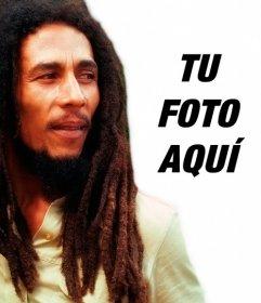 Crea un fotomontaje con Bob Marley a tu lado cargando una imagen online y añadiendo una frase gratis
