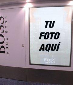 Fotomontaje para poner tu foto como un modelo dentro de un cartel publicitario de Hugo Boss