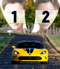 Collage de coche tunning para poner dos fotografías