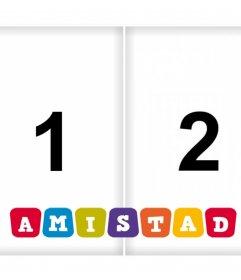 Foto collage de la AMISTAD para subir dos imágenes gratis
