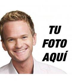 Fotomontaje de Barney de Cómo conocí a vuestra madre para personalizar con tu foto y texto