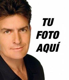 Crea un montaje con Charlie Sheen en una foto para aparecer con el actor en ella