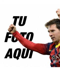 Fotomontaje con Messi del Barça para poner tu foto
