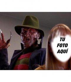 Fotomontaje de una escena de Pesadilla en Elm Street donde podrás aparecer