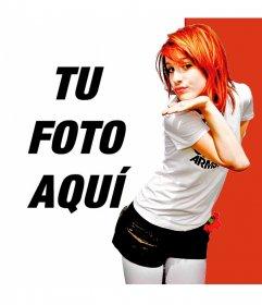 Fotomontaje con Hayley Williams, la cantante de Paramore