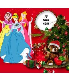 Fotomontaje infantil de Navidad con La Cenicienta