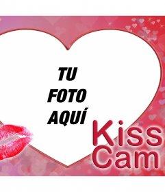 Sube tu foto dando un beso a este fotomontaje original de la KISS CAM