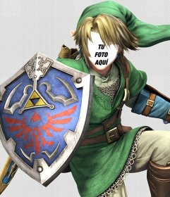 Fotomontaje editable para ser Link, del videojuego Zelda
