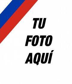 Foto montaje para poner la bandera de Rusia en tu imagen