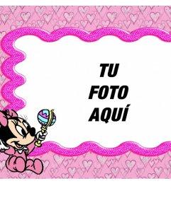 Fotoefecto de un marco infantil para editar con tu foto