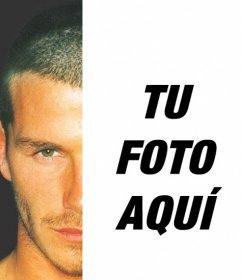 Fotomontaje para posar junto a Beckham