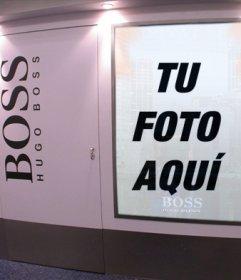 Fotomontaje para aparecer en un anuncio de Hugo Boss como si fueras un modelo